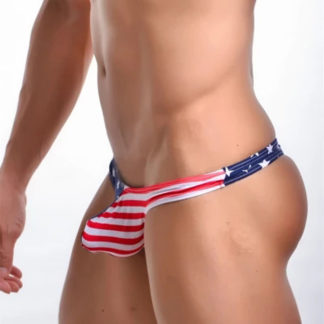 Gay Men's Underwear – American Flag Colored Men's Thongs
