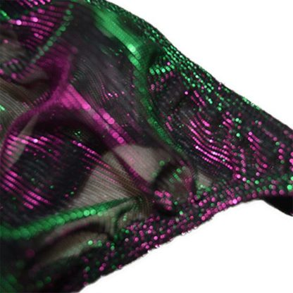 Green-Purple Glistering Low Rise Erotic Underwear