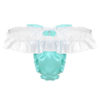 Shiny Soft Satin Lingerie With Bowtie All Products - Underwear & Thongs For Men