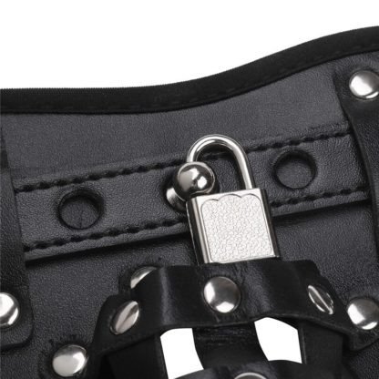 All Products - Underwear & Thongs For Men - Leather Basket Jockstrap with Padlock